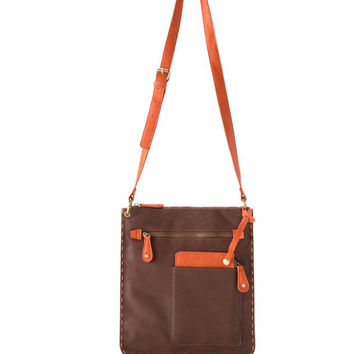 Chicago Cross Body Bag by Shiraleah - Brown