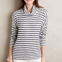 Stateside Striped Cowl Tee in Navy Size: