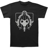 Doctor Who Men's  Cyberman Head T-shirt Black