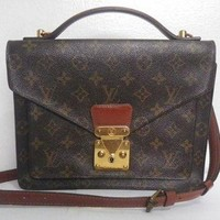 DCCK authentic vintage Louis Vuitton LV Monogram Monceau bag