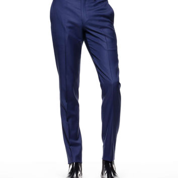 Sutton Suit Pant in Italian Blue Wool Twill
