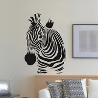 Wall Decal Vinyl Sticker Wild Animal Zebra Decor Sb456