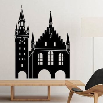 Germany Cologne Cathedral Landmark Architecture Silhouette Illustration Pattern Wall Sticker Art Decals Wallpaper for Room Decal