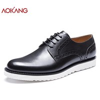 New Arrival Men Shoes leather genuine Brogue Shoes fashion dress shoes hard-wearing derby shoes men shoes