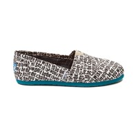 TOMS Classic Be The Change Casual Shoe, Black White, at Journeys Shoes