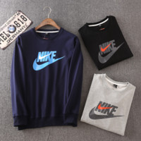 Men's Casual Sports Nike Printed Round Neck Long Sleeve Sweater Pullovers