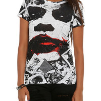 DC Comics The Dark Knight Joker Sublimation Girls T-Shirt
