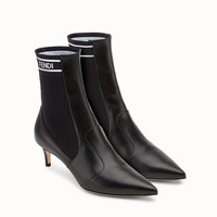 Fendi black leather and ankle boots