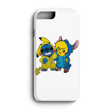 """Apple Iphone 6 4.7"""" Case - The Best 3d Full Wrap Iphone Case - Pikachu And Stitch"""