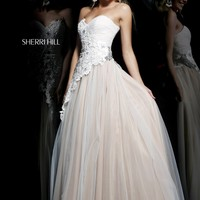 Sherri Hill 11128 Lace Ball Gown Prom Dress