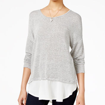 American Rag Layered-Look Sweater, Only at Macy's - Juniors Sweaters - Macy's