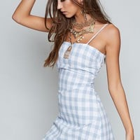 Sally Dress Blue Check