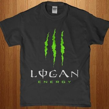 Logan Energy monster drink adult unisex t-shirt
