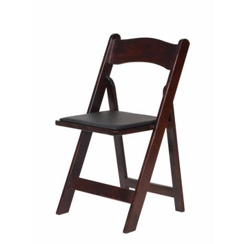 American Classic Red Mahogany Wood Folding Chair