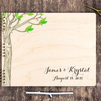 Wood Wedding Guest Book, Unique Wedding Guest Book, Rustic Wedding Guest Book, Wood Guestbook, Custom Guest Book, Personalized Guest Book