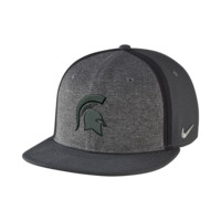 Nike College Bowl Sideline Swoosh Flex (Michigan State) Fitted Hat  Size ADJ (Black)