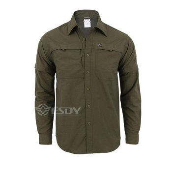 PEAPFS2 2016 New Army Men's Summer Tactical Shirt Quick Dry Shirt Removable Outdoor Leisure Breathable Uv Protection Military Shirt