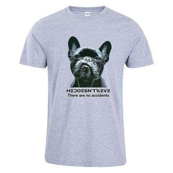 funny French bulldog Prinetd T-Shirt Hipster Men Cotton dog T Shirt O-Neck Rock Roll Style Clothes Tees Unisex Tops