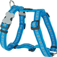 Red Dingo Designer Dog Harness - Daisy Chain (Turquoise)