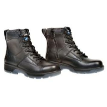"Black 6"" Lace up Side Zipper Composite Toe Boot"