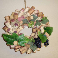 Wine Harvest Wine Cork Wreath - hostess gift, gifts for the wine lover in your life