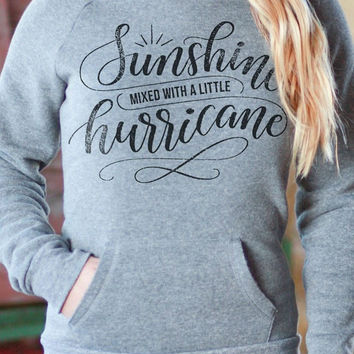 Sunshine Mixed with a Little Hurricane   Off-the-shoulder Sweatshirt