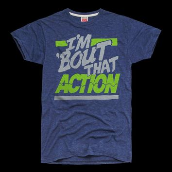 HOMAGE Seattle Seahawks 'Bout That Action Super Bowl T-Shirt - $19.76