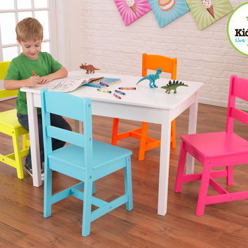 KidKraft - Highlighter Table and 4 Chairs