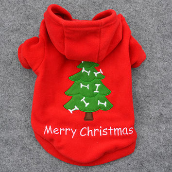 New Qualified Hot sell Christmas Pet Puppy Dog Clothes Santa Claus Costume Outwear Thick Coat Apparel Hoodie jackets winte