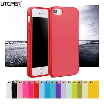 Candy Coque Silicone Soft Case For Apple iPhone 5 5S SE