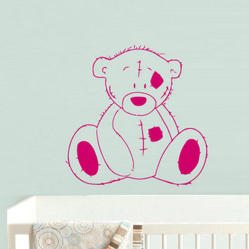 rvz740 Wall Decal Vinyl Sticker Decor Nursery Kids Baby Teddy Bear