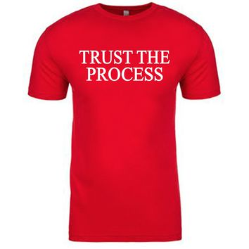 Sixers Trust The Process Philadelphia 76ers Red Trust The Process Shirt