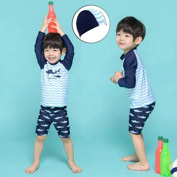 Swimsuit Children's Boy Kids Rash Guard Children Baby Clothing Clothes For Bikini Swimming Trunks Cuhk Plus Size Fat Swim Animal