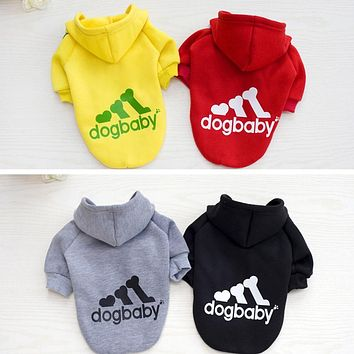 Warm Pet Dog Clothes Hoodies Puppy Coat Jacket for Small Large Dog Clothing Cat Vest Shirts Spring Autumn Winter Pet Apparel 40