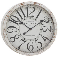 Benzara Antique themed and classy Wood Wall Clock
