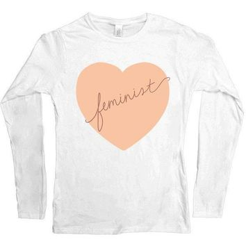 Feminist Heart -- Women's Long-Sleeve