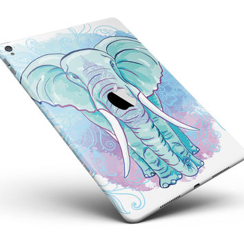 "Flourished Blue & Purple Sacred Elephant Full Body Skin for the iPad Pro (12.9"" or 9.7"" available)"