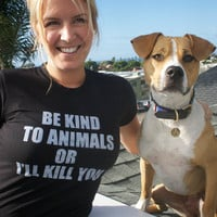 2X women's Animal rights rescue remake BLACK  by VonStreichergoods