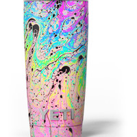 Neon Color Fushion with Black splatters Yeti Rambler Skin Kit