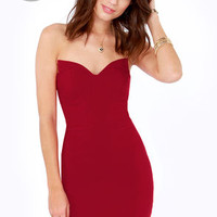 LULUS Exclusive Sound Off Strapless Red Dress