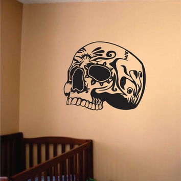 Skull Design Day of the Dead Art Decal Sticker Wall Vinyl