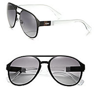 Fendi - Colorblocked 55MM Aviator Sunglasses - Saks Fifth Avenue Mobile