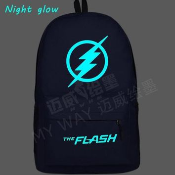 Anime Backpack School 2018 kawaii cute  Hero Flash Man backpack Super Man Green Arrow Printing men shoulder bag Teenagers Travel School Bag Mochila AT_60_4