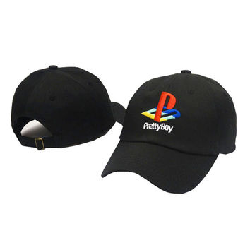 Pretty Boy Baseball Cap Playstation Hat Adjustable Snapback Strapback Dad Hat Men Women Prettyboy Cap Bones Masculino