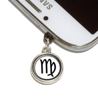 Zodiac Sign Virgo Mobile Phone Silver Charm