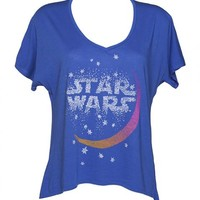 Ladies Blue Moonlight Oversized Star Wars T-Shirt From Junk Food : TruffleShuffle.com