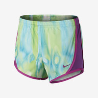 The Nike Tempo Allover Print Girls' Running Shorts.