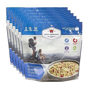 Wise Outdoor Strawberry Granola Crunch Camping Food - Case of 6