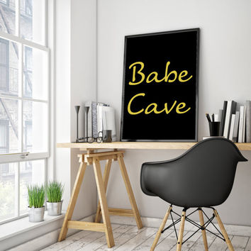 Typography art Babe Cave