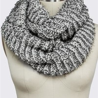 Thick Stitch Hairy Eternity Scarf